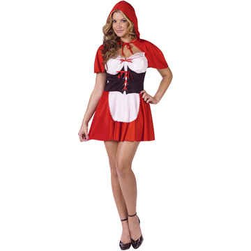 Red Hot Riding Hood Adult Costume -