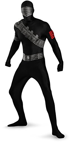Snake Eyes Deluxe Bodysuit Costume,Black,Medium/38-40 -