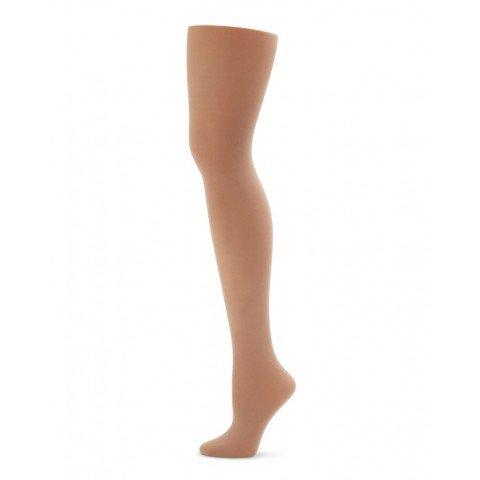 Light Suntan Capezio 1815C Girls Ultra Soft Footed Tight 8-12 One Size