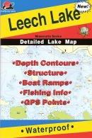 Fishing Hot Spots Map for Leech Lake in Minnesota