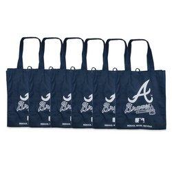 Atlanta Braves Printed Non-Woven Polypropylene Reusable Grocery Tote Bag