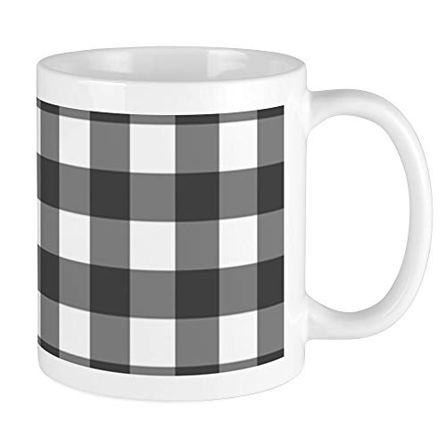 - CafePress Black White Buffalo Plaid Mugs Unique Coffee Mug, Coffee Cup