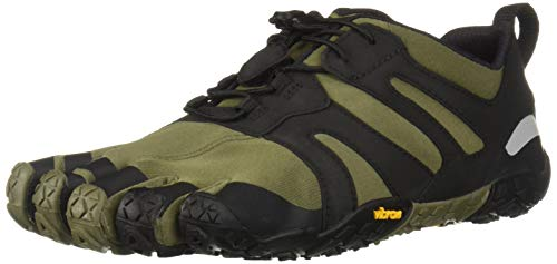 Vibram Men's V 2.0 Trail Running Shoe, Ivy/Black, 44 D EU (44 EU/10.5-11 M US D EU US)
