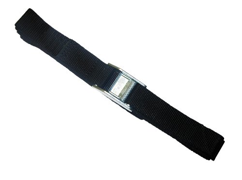 Strapits Cam Buckle - CLC Custom Leathercraft 2WS12 Strap-It Web Tie Down Straps, Black, 12 Ft, 2-Pack