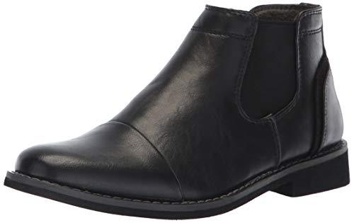 Deer Stags Boys' Marcus Memory Foam Dress Comfort Cap Toe Chelsea Boot, Black, 5 Medium US Big Kid