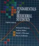Fundamentals of Behavioral Statistics, Runyon, Richard P., 0070549850