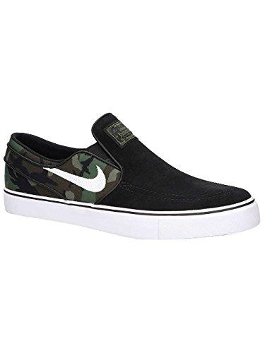 online store 31ad5 4c73e Galleon - NIKE SB Stefan Janoski Slip Mens Skateboarding-Shoes 833564-003 9  - Black White-Multi-Color