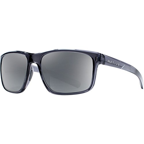 Native Eyewear Wells Sunglass, Dark Crystal Gray, Silver ()