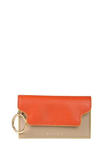 Marni Women's Pcmo0003u0lv520z248y Orange Leather Key Chain