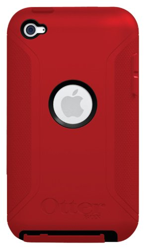OtterBox Defender Series Hybrid Case for iPod touch 4G (Black/Red) (Otterbox Ipod 4 Touch Case)
