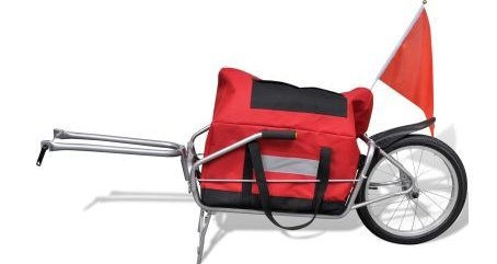 SKB Family Bicycle Cargo Trailer One-wheel with Storage Bag easily attached suitable for all bikes made of 600 D Oxford cloth