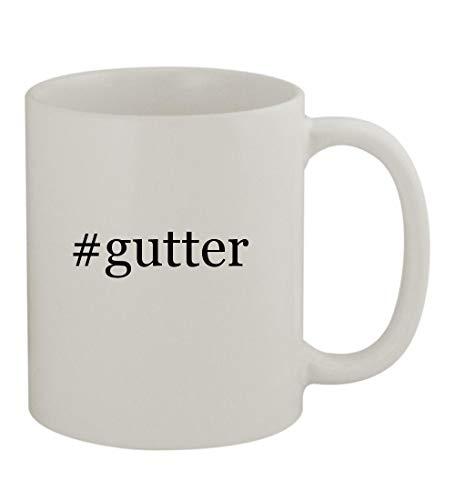 #gutter - 11oz Sturdy Hashtag Ceramic Coffee Cup Mug, White