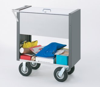 Charnstrom Medium Solid Mail Cart with Locking Top and 8-Inch Caster Option (B286Y) by Charnstrom
