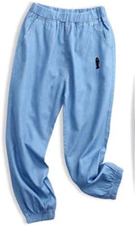 子供服 カジュアルパンツ シンプル アウトドア 軽い 柔らかい ストレッチパンツ 薄 デニムパンツ