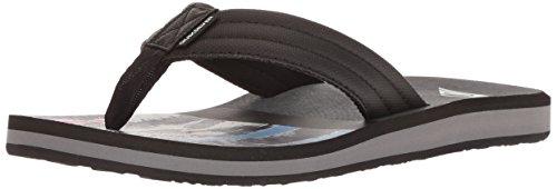 Quiksilver Slip Sandals - Quiksilver Men's Carver Print Sandal, Black/Grey, 13(46) M US