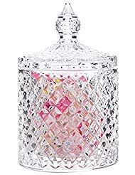 - Rainie Love Home Basic Food Storage Organization Set-Crystal Diamond Faceted Jar With Crystal Lid,Suitable as A Candy Dish,Cookie Tin,Biscuit Barrel,Decorative Candy Jar