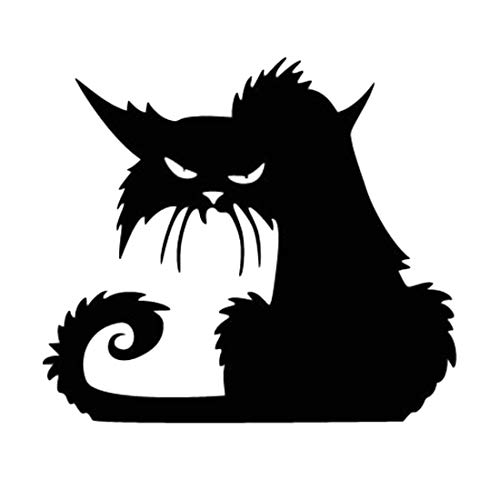 (Party Diy Decorations - Halloween Scary Spooky Black Cat Wall Glass Sticker Decoration Decals 42 37cm Party - Glass Skull Fun Bee Wall Decor Penguin Devil Sweatshirt)