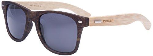 Ocean Sunglasses - lihue - lunettes de soleil en Bambou - Monture : Bambou - Verres : Fumée (52000.1)