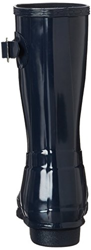 Hunter Original Short Gloss Wellington Boots - Botas de Caucho para mujer, color azul, talla azul (navy)