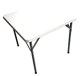 Uniware Heavy Duty Square Folding Table, 34 X 34 Inch, Large, White