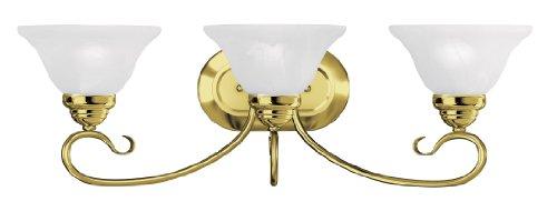 Livex Lighting 6103-02 Coronado 3 Bath Light, Polished Brass