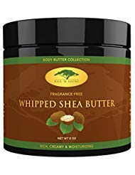 (8 oz) Whipped African Shea Butter Cream - Pure 100% All Natural Organic Moisture for Soft Skin and Natural Hair - Body...