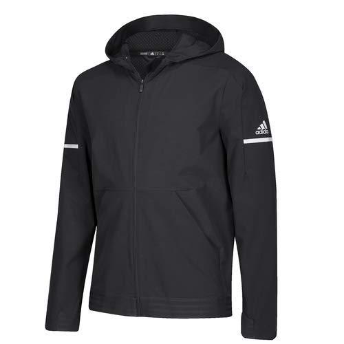 Black White White XLTG adidas Men's Squad Woven Full Zip