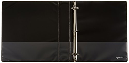 AmazonBasics 3-Ring Binder, 1.5 Inch - 4-Pack (Black) Photo #2