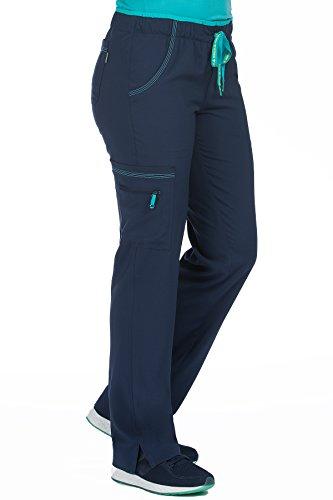 'Activate' Color Block Scrub Pant, Navy/Aquamarine, XX-Large (Navy Marine Uniforms)