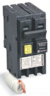 SQUARE D BY SCHNEIDER ELECTRIC HOM230GFI MINIATURE CIRCUIT BREAKER 120/240V 30A by Square D