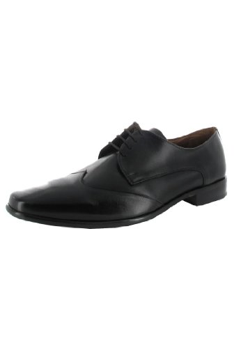 Manz - Zapatos de cordones de cuero para hombre negro negro