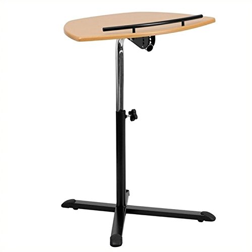 Scranton and Co Adjustable Standing Laptop Cart in Natural