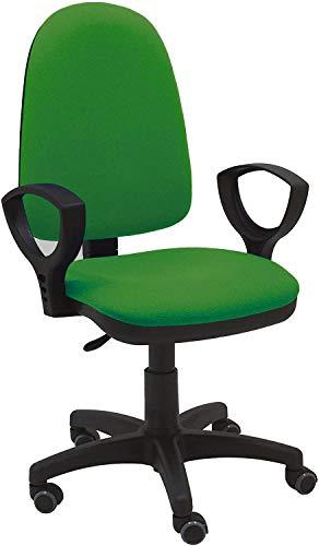La Silla de Claudia - Silla Escritorio y Oficina Torino Color Verde. Silla Oficina ergonomica con reposabrazos. Asiento y Respaldo Regulables. Ruedas de Goma