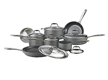 Gourmet Collection Hard Anodized Cookware Set – 14 pc.