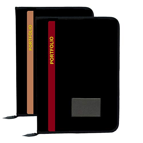 KOPILA 20 Leafs Office File/Document Bag/Zip Files/Conference File/Certificate File Folder for Office & School College Set of 2 Brown & Red