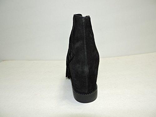 Corset Femme En Daim Noir Compensé En Daim Gland Western Bottines, Bottillon, Taille 38 M
