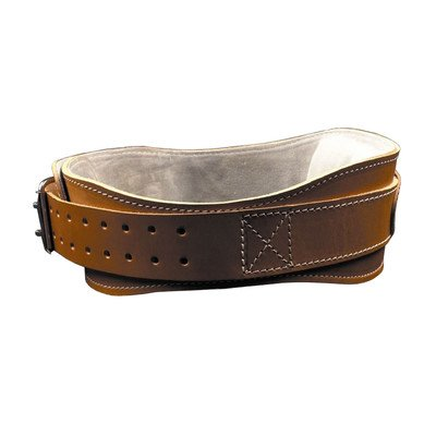 4.75'' Power Leather Lifting Belt in Natural Leather Size: XXL (44'' - 50'')