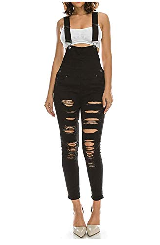 Hot Curves Women's Trendy Slim Fit Skinny Overalls with Spandex ()
