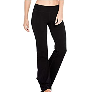 Houmous S-XXL Petite/Regular/Tall Length, Women's Yoga Bootleg Pants Inner Hidden Pocket Workout Pants(Petite-29 Inseam-Black, X-Large)