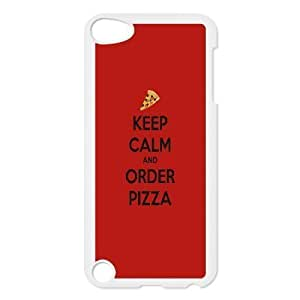 Specialdiy Keep Calm and Order Pizza Ipod Touch 5 case cover, Ipod Touch 5 case covers for Boys Elegant ga5DFOABgbi Zachcolo - White