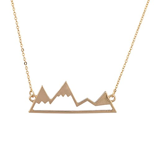 Lux Accessories Top Of The Mountain Snowboard Ski Winter Pendant (Mountain Necklace)