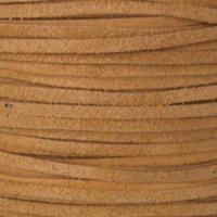 Genuine Split Suede Leather Lace Cord 3mm Tan/Natural (10 yards) (Split Leather Genuine Tan)