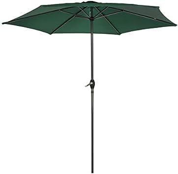 AKTIVE Garden 53988 Parasol Hexagonal, diámetro 270 cm, Verde
