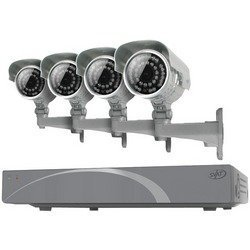 SVAT 11030 Svat 11030 8-Channel Smart Security Dvr With 4 Ultra-Resolution Outdoor Night Vision Security Cameras