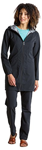 ExOfficio Women's Caparra Waterproof Trench Coat, Black, Small ()
