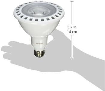 Philips 435388 17PAR38//F25 2700 DIM AF SO Single Optics 17W PAR38 LED 2700K White Flood 25/° Light Bulb
