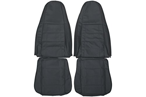 1997-2006 JEEP Wrangler TJ Genuine Leather Seats Cover Custom Made (Front)Charcoal Black