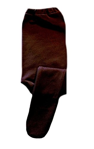 Jacqui's Baby Girls' Brown Cotton Spandex Knit Tights, Small Newborn