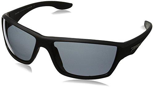 Pepper's Pipeline MP5609-1 Polarized Wrap Sunglasses, Matte Black/Smoke, 65 mm