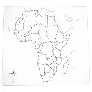 Cartina Muta Africa.Montessori Carta Geografica Per Conoscere Africa Muta